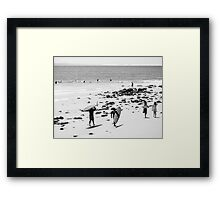 The long walk back to the Point Framed Print