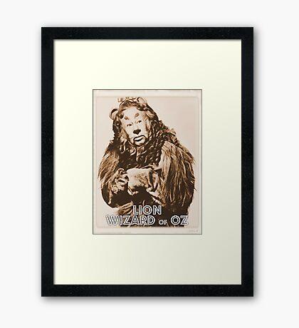 Wizard of Oz Lion Framed Print