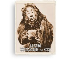 Wizard of Oz Lion Canvas Print