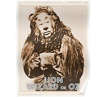 Wizard of Oz Lion Poster