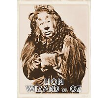 Wizard of Oz Lion Photographic Print