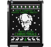 LARRY DAVID PRETTY GOOD CHRISTMAS UGLY SWEATER iPad Case/Skin