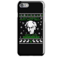 LARRY DAVID PRETTY GOOD HANUKKAH UGLY SWEATER iPhone Case/Skin