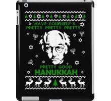 LARRY DAVID PRETTY GOOD HANUKKAH UGLY SWEATER iPad Case/Skin