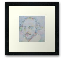 WILLIAM SHAKESPEARE - watercolor portrait.6 Framed Print