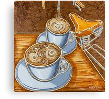 Still life with bicycle Canvas Print