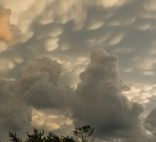 Sky Painting - Mammatus Clouds After A Storm Sticker