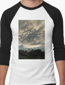 Bizarre Mammatus Clouds After a Summer Storm Men's Baseball ¾ T-Shirt