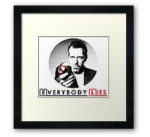 Dr House - Everybody Lies Framed Print