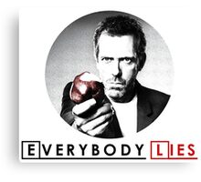 Dr House - Everybody Lies Canvas Print