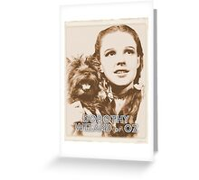 Wizard of Oz Dorothy Greeting Card
