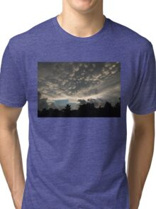 Bizarre Mammatus Clouds After a Thunderstorm Tri-blend T-Shirt