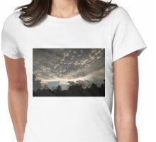 Bizarre Mammatus Clouds After a Thunderstorm Womens Fitted T-Shirt