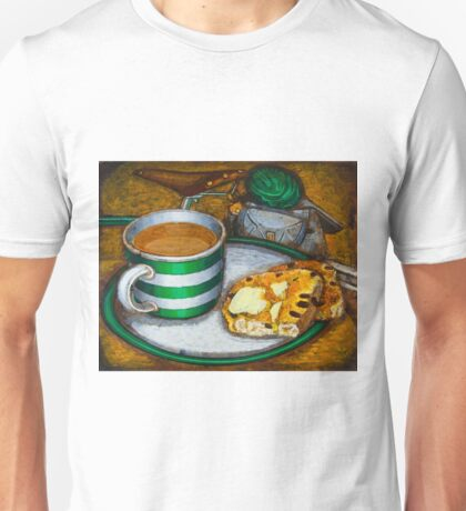 Still life with green touring bike Unisex T-Shirt