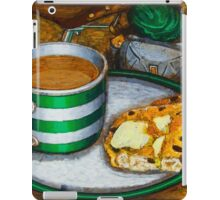 Still life with green touring bike iPad Case/Skin