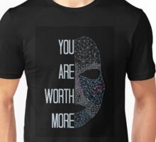 """""""You Are Worth More"""" Feminist Print Unisex T-Shirt"""