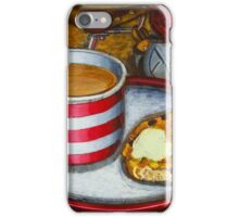 Still life with red touring bike iPhone Case/Skin