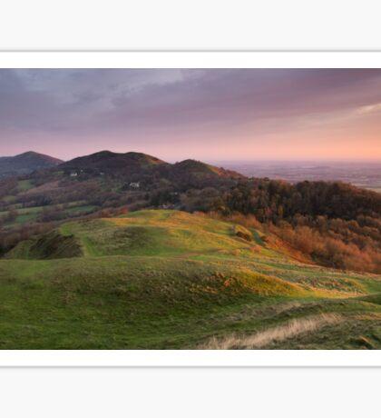 The Malverns Ridge, England Sticker