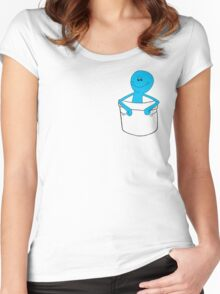 Mr Meeseeks Pocket Tee - Rick and Morty Women's Fitted Scoop T-Shirt