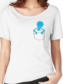Mr Meeseeks Pocket Tee - Rick and Morty Women's Relaxed Fit T-Shirt