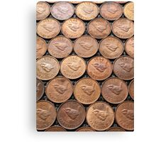 Who's your Farthing? Coins Canvas Print
