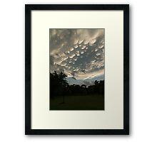 Summer Storm Aftermath - Extraordinary Mammatus Clouds Framed Print