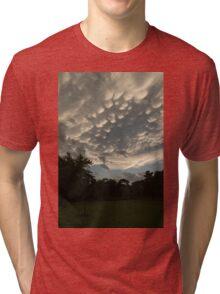 Summer Storm Aftermath - Extraordinary Mammatus Clouds Tri-blend T-Shirt