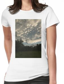 Summer Storm Aftermath - Extraordinary Mammatus Clouds Womens Fitted T-Shirt