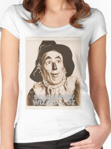 Wizard of Oz Scarecrow Women's Fitted Scoop T-Shirt
