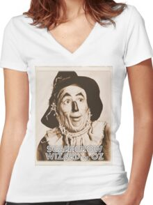 Wizard of Oz Scarecrow Women's Fitted V-Neck T-Shirt