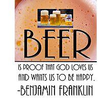 Ben's Beer Photographic Print