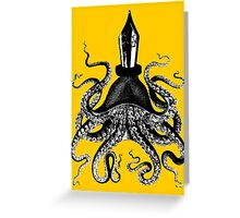 Octopus ink pen Greeting Card