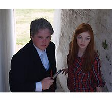 2015 - Doctor Who and Amy Pond cosplayers Photographic Print
