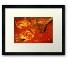 Balti Chicken Cooking Framed Print