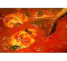 Balti Chicken Cooking Photographic Print