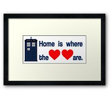 Doctor Who - Home is where the hearts are. Framed Print
