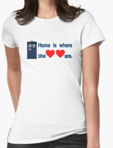Doctor Who - Home is where the hearts are. Womens Fitted T-Shirt