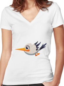 Colorful Bird  #8 Women's Fitted V-Neck T-Shirt