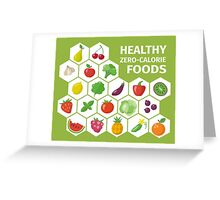 Healthy Zero Calorie Foods Greeting Card