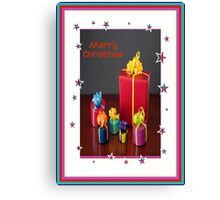 Merry Christmas Gift Boxes Holiday Greeting Canvas Print