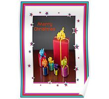 Merry Christmas Gift Boxes Holiday Greeting Poster