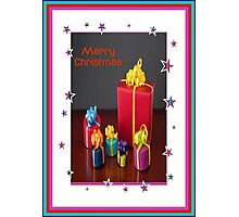 Merry Christmas Gift Boxes Holiday Greeting Photographic Print