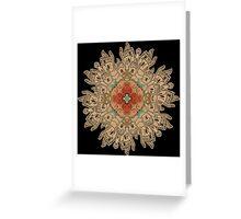 Buddha and Karmic Hand Mandala Greeting Card