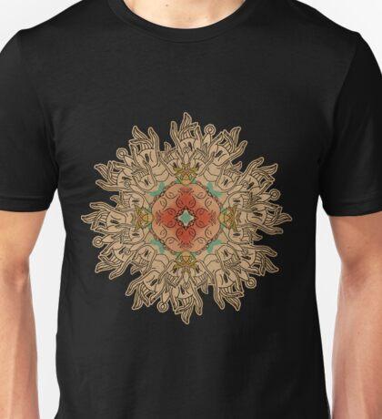 Buddha and Karmic Hand Mandala Unisex T-Shirt