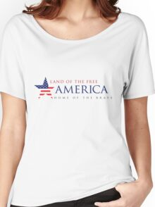 America Land of the Free Women's Relaxed Fit T-Shirt