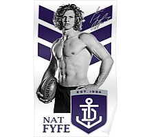 Fremantle Star - Nathan Fyfe Poster