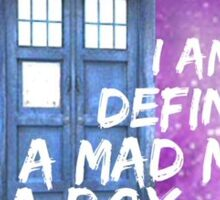 I Am Definitely A Mad Man In A Box Sticker
