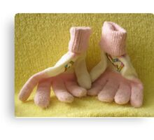lovers gloves Canvas Print