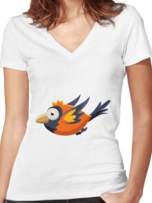 Colorful Bird  #12 Women's Fitted V-Neck T-Shirt