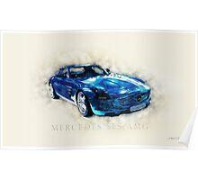 Mercedes SLS AMG Poster